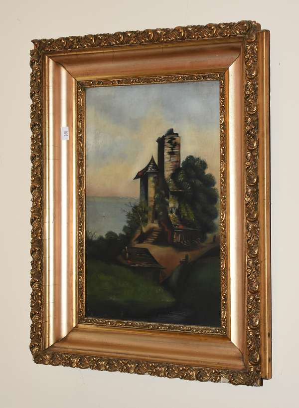 CASTLE ON BLUFF PAINTING (900-260)