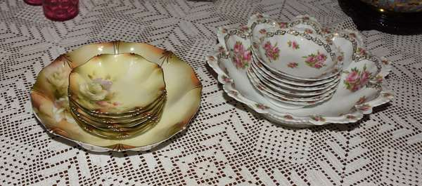 TWO CHINA BERRY SETS (900-462)