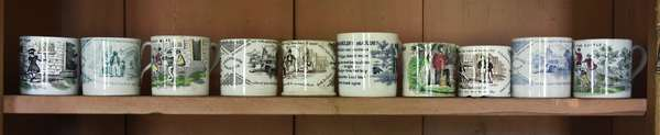 Collection of ten 19th C. children's mugs, English and others