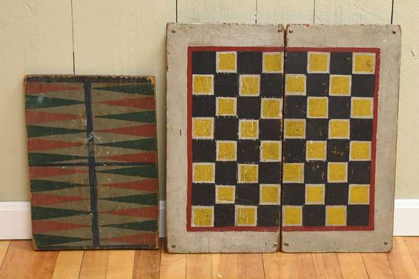 Paint decorated folding game board 21