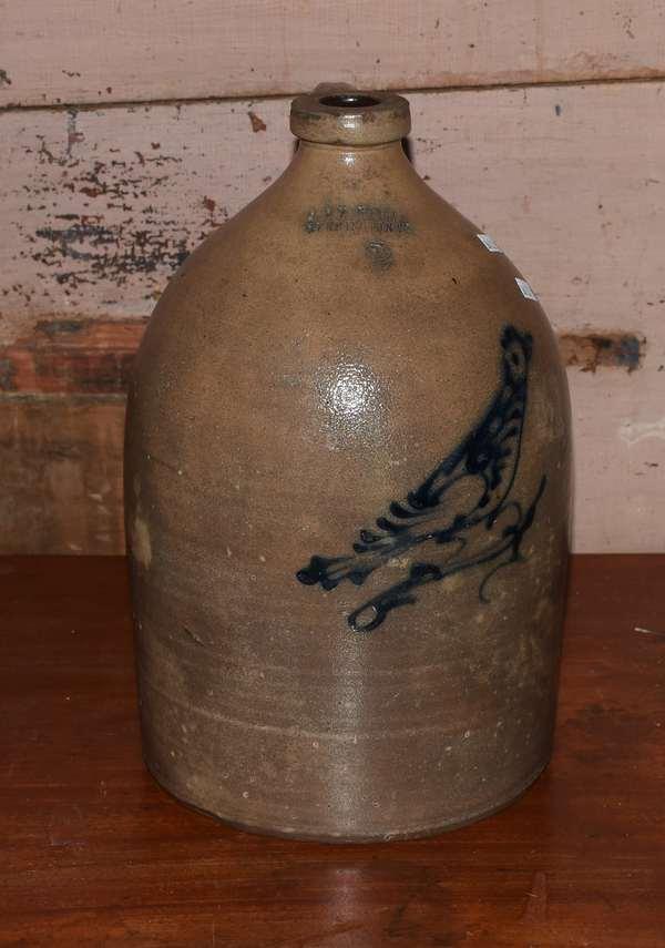 Norton Bennington VT. blue bird design jug