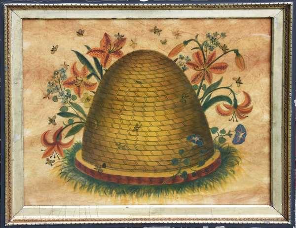 Good theorem on velvet, beehive with flowers, 18
