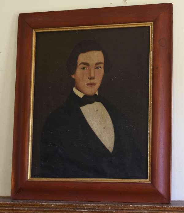19th C. American school portrait  of a gentleman