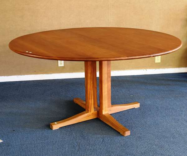 Shackleton cherry round dining table, 60