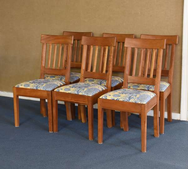 Six cherry Shackleton dining room chairs