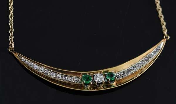 14k gold necklace, 2.5