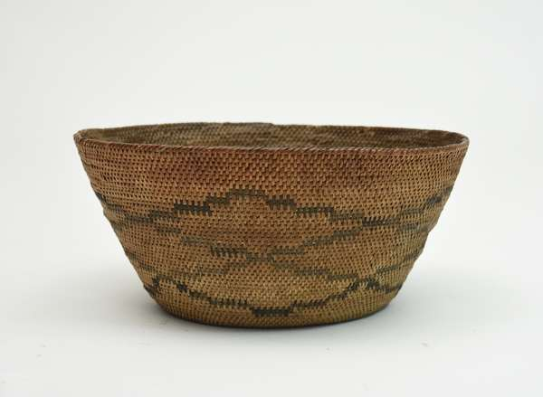Early woven Native American basketry bowl, 6