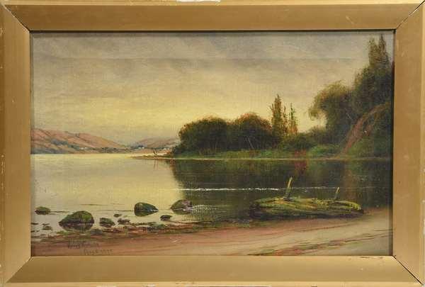 Oil on canvas signed Harry E. Pratt