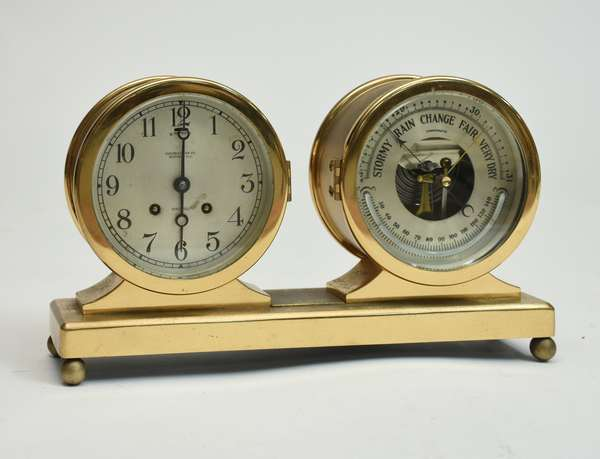 Chelsea ships clock and barometer, 8.5