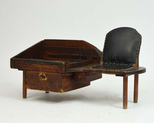 Exceptional 19th C. cobbler's bench, 48