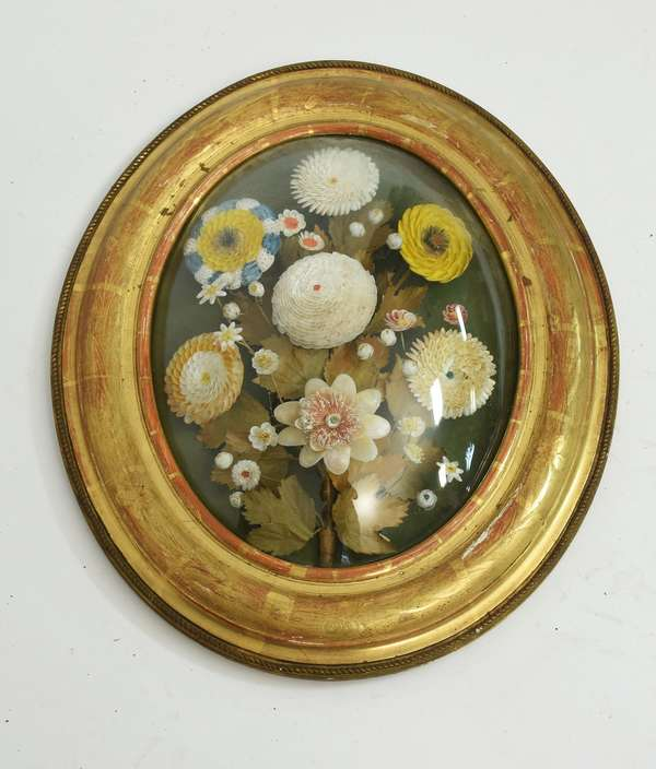 Finely made floral shell work, 19