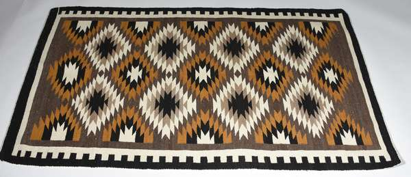 Native American Navajo rug, 3'6