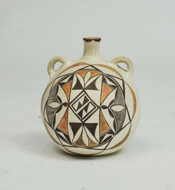 Native American Acoma clay canteen (water vessel) 9