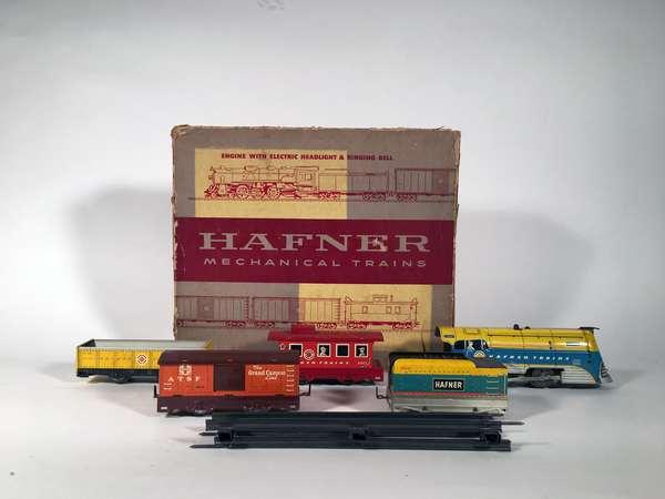 Hafner set, 115041 steam loco, tender, 3 freight cars, OB