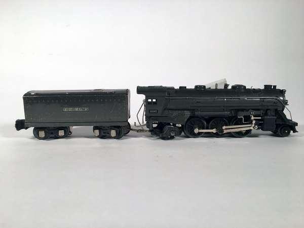 Lionel 1666 E 2-6-2 steam loco/tender, gunmetal