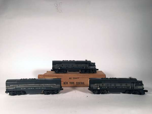 Lionel 2344 New York Central F-3 ABA Diesels, one OB