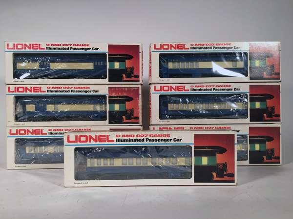 Lionel Blue Comet Passenger Set, 9536, (2) 9537, 9538, (2) 9539, 9540, OBS