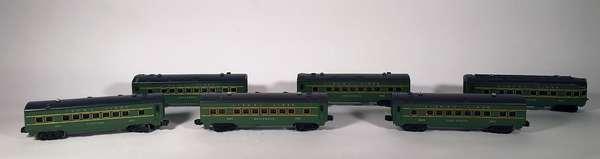Lionel Passenger cars (5) 2400 Maplewood, 2401 Hillside observation