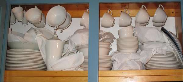 "Set of ""Shelledge"" Syracuse china, service for 10 plus (75-21)"