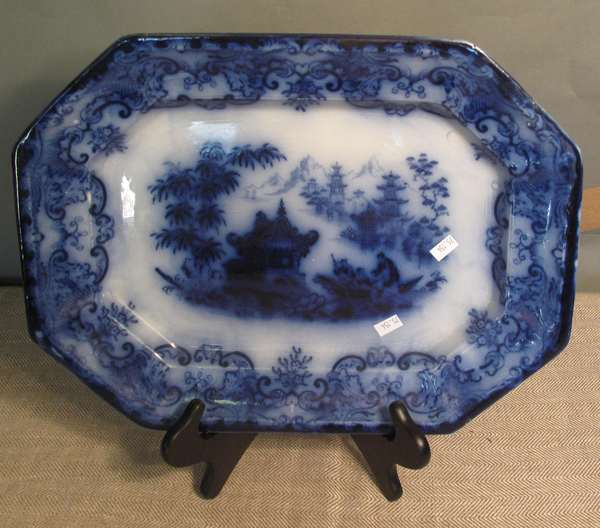 "Flow Blue Formosa platter,16"" (75-154)"