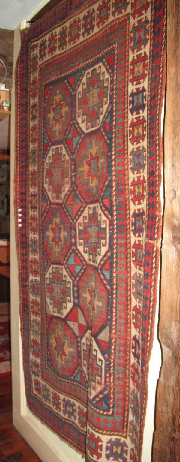 """Oriental Heriz design scatter rug Approx. 2'4"""" x 3'11"""" (75-194)"""