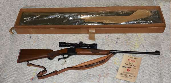 Ref 6: Sturm, Ruger and Co. Inc. Southport Conn. Single shot 300 Winchester MAG Serial # 132-02388 with scope