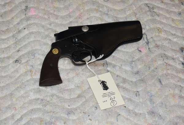 Ref 7: Diamondback .38 Special CTG. Colt Revolver Hartford Conn. With case.