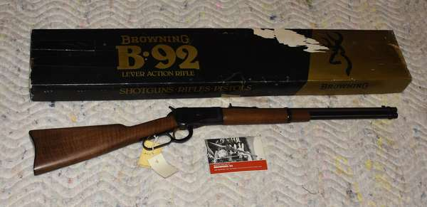 Ref 14: Lever Action Browning 44 Magnum Rifle. Serial # 03510PM167. Browning 92- made in Japan.