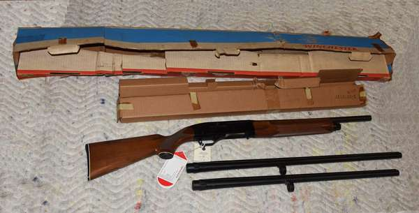 Ref 16: 12 Gauge Winchester Model 1500 XTR with 2 extra barrels. Serial # NX009994. Made in New Haven Conn.