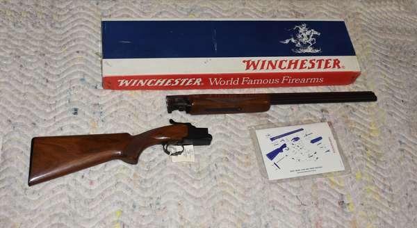 Ref 18: 20 Gauge Double Barrel Winchester Xpert Model 96 shotgun Made in Japan. Serial #K266966