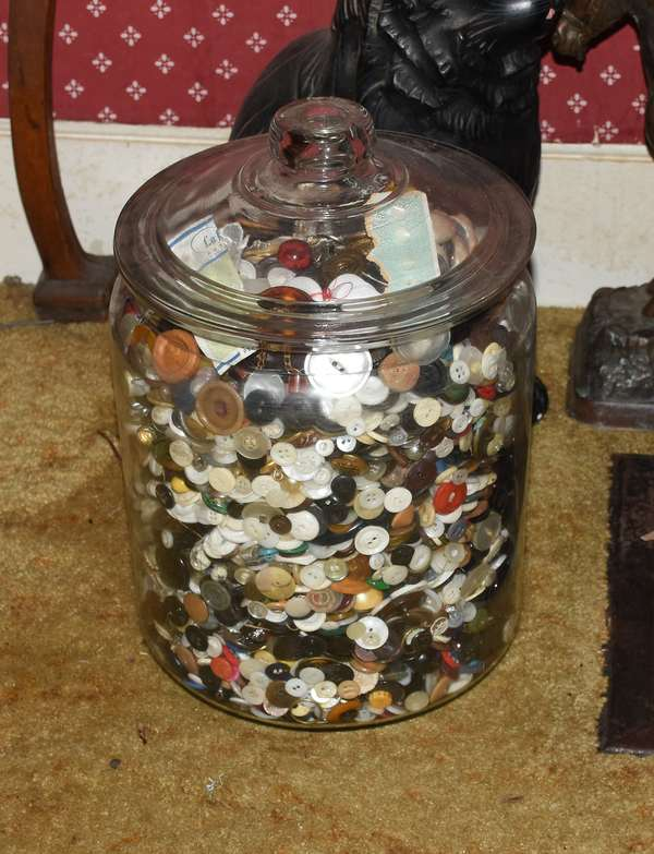 Button collection (2 other jars not photographed)