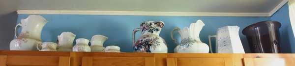 Various porcelain pitchers
