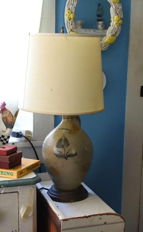 L. Norton stoneware lamp