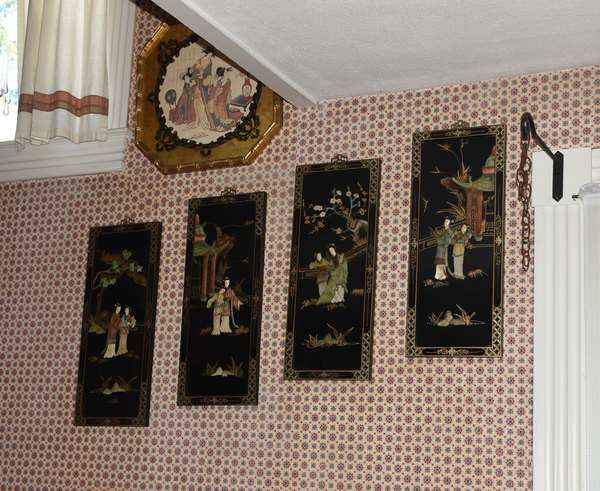 Painted Asian hanging panels