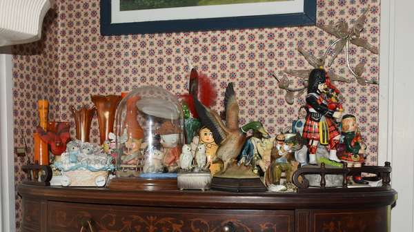 Various figurines and collectibles