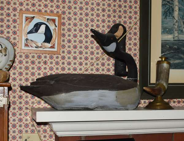 Painted goose decoy