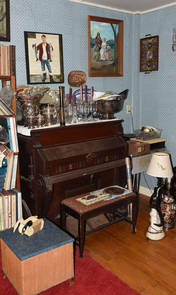 Upright Victorian pedal organ