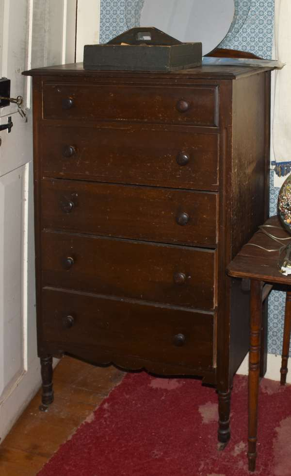 Fiver drawer tall chest
