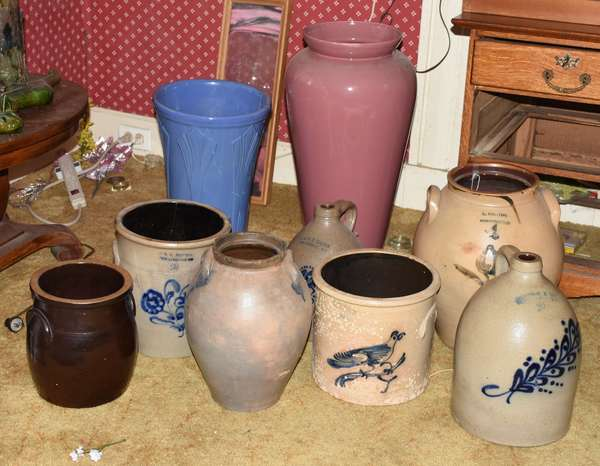 Selection of stoneware