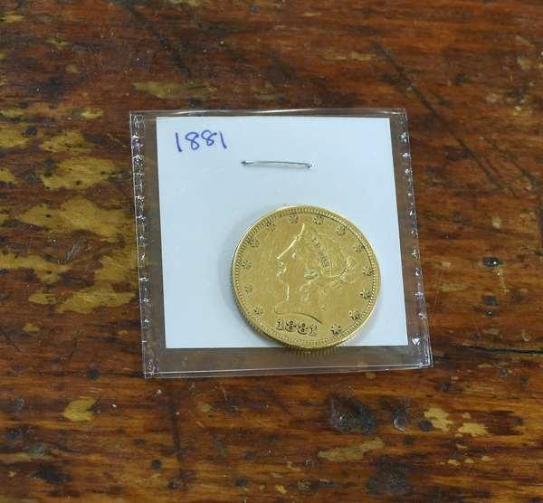 Ref 7: 1881 10 dollar gold piece (762-32)