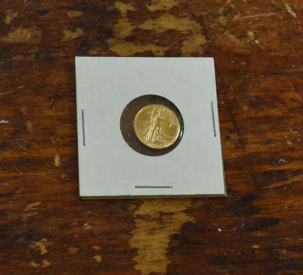 Ref 23: 1986 1/10 oz. gold American eagle (746-3)