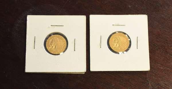 Ref 27: 1908 & 1915 2 ½ dollar gold coins (44-1)