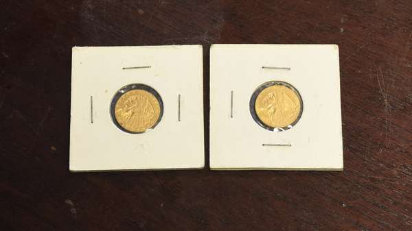 Ref 28: Two 1926 2 ½ dollar gold coins (44-2)