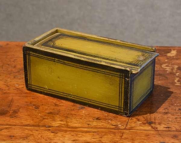 Slide box in original mustard paint (44-15)