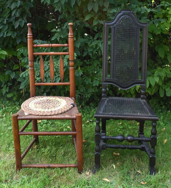 Two early American chairs (675-53)