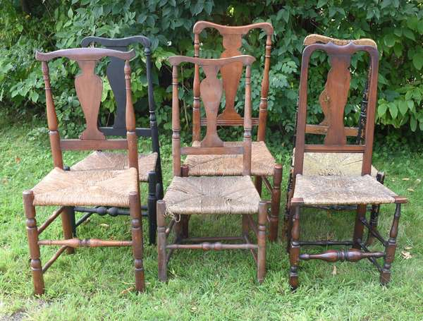 Assembled set of six Queen Anne chairs (675-60)