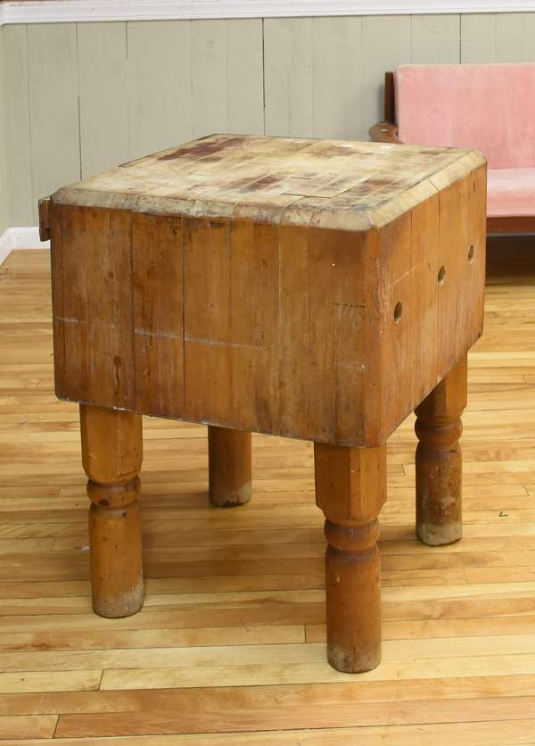 Butcher block table (26-6)