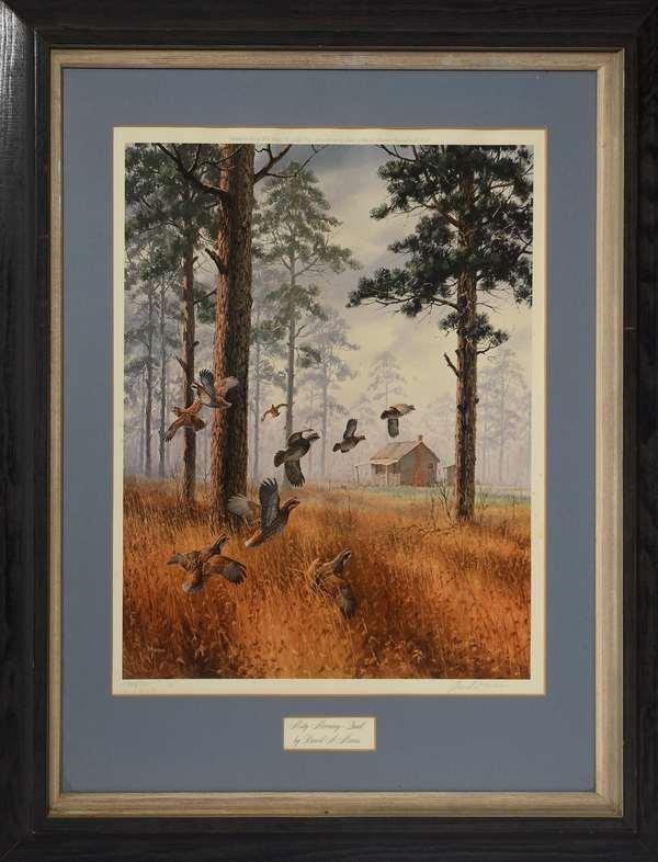 1975 Misty Morning quail print 344/580, 18