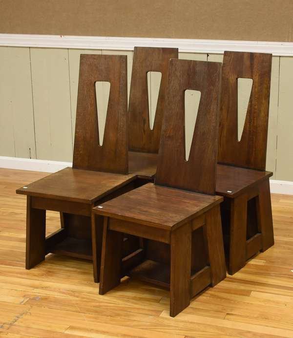 Four oak Limbert style chairs (437-66)