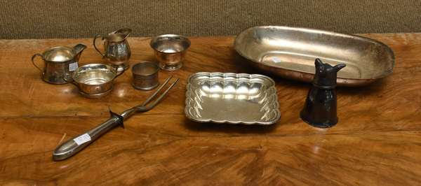 9 pc sterling lot of tableware, approx. 18.5 T.oz weighable silver (667-25)